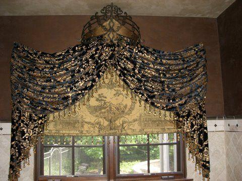 Embellished Roman Shade